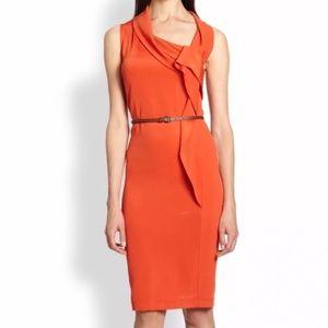 MaxMara Sleeveless Cowl Neck Shift Dress